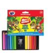 Lápices de Color Jumbo 12 Colores Pequeno ErichKrause