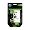 Cartuchos de Tinta HP Pack 2 Negro y Color SD412E - (350 + 351)