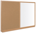 Pizarra Doble Uso Reciclado 60x90cm Corcho / Blanco Marco Madera Executive Earth-It