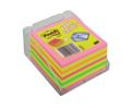 Notas Reposicionables Cubo 450 Hojas Néon 76x76mm c/ Base Post-It