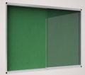 Vitrinas Interior 926x661mm Feltro Exhibit Verde