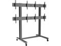 "Soporte Video Wall de Suelo 40 - 55"" M PUBLIC STAND 2x2 Negro Multibrackets 4 Pantallas"