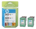Cartuchos de Tinta HP Pack 2 Un. Color C9505E - (344)