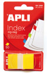 Notas Reposicionables Index en Z-Notes Amarillo 25x45mm Apli