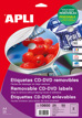 Etiquetas CD-DVD MEGA Removibles Ext ø 117 Int ø 18