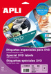 Etiquetas CD-DVD Permanente Ext ø 117 Int ø 18