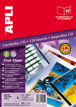 Carátula para CD-DVD Apli Bordas Lisas Photos Brillantes Calidad Ext Int ø 121 ø 121