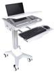"Soportes Estación de Trabajo de Suelo 9,7 - 17,3"" M UNIVERSAL WORKSTATION CART NB Multibrackets"