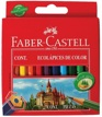 Lápices de Color 6 Colores 8,5cm Faber Castell EcoLápices