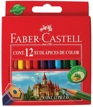 Lápices de Color 12 Colores 8,5cm Faber Castell EcoLápices