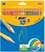 Lápices de Color 24 Colores 17cm Bic Kids Tropicolors 2