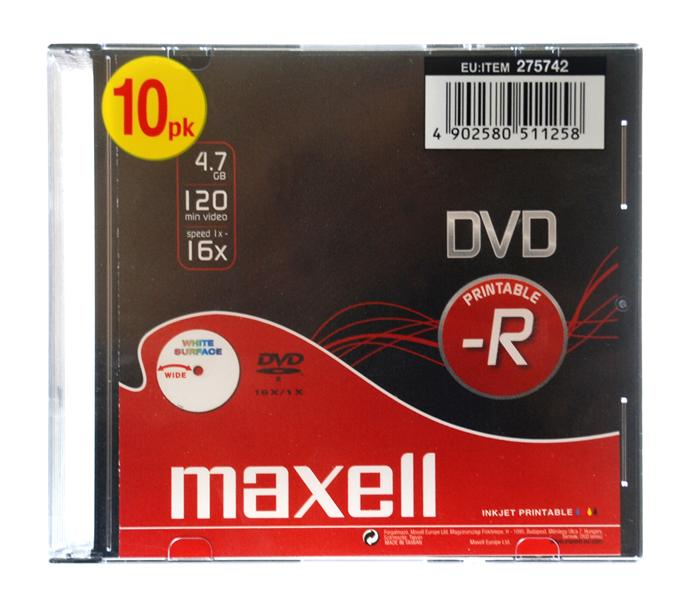 DVD-R Printable Maxell Pack 10Un.