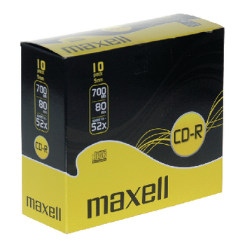 CD-R Maxell Pack 10Un.
