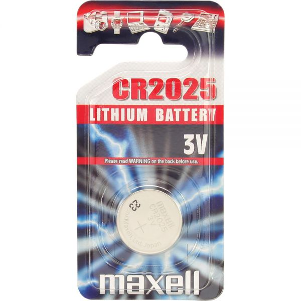 Pilas Maxell Litio CR2025 3V