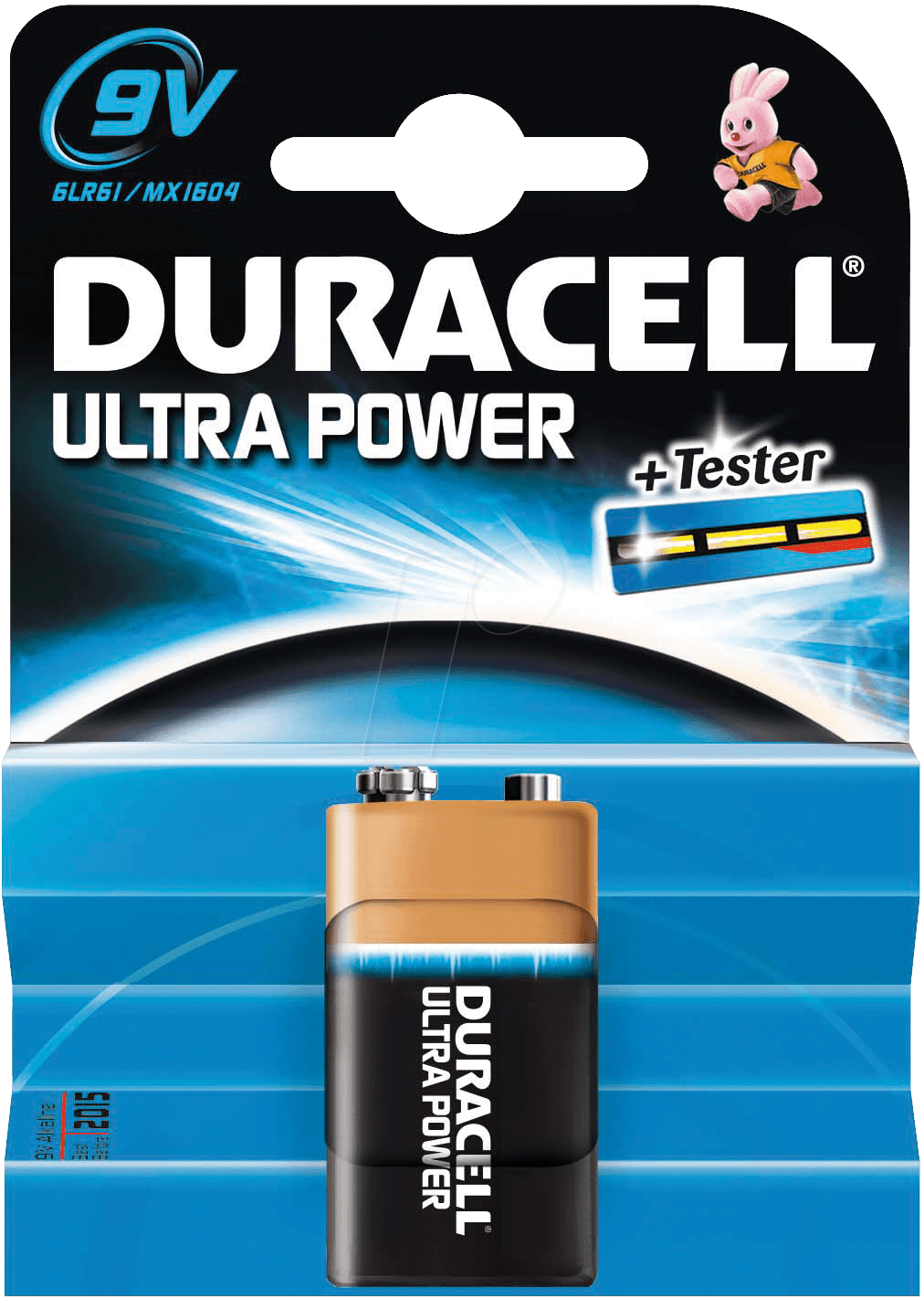 Pilas Duracell Ultra Power 9V
