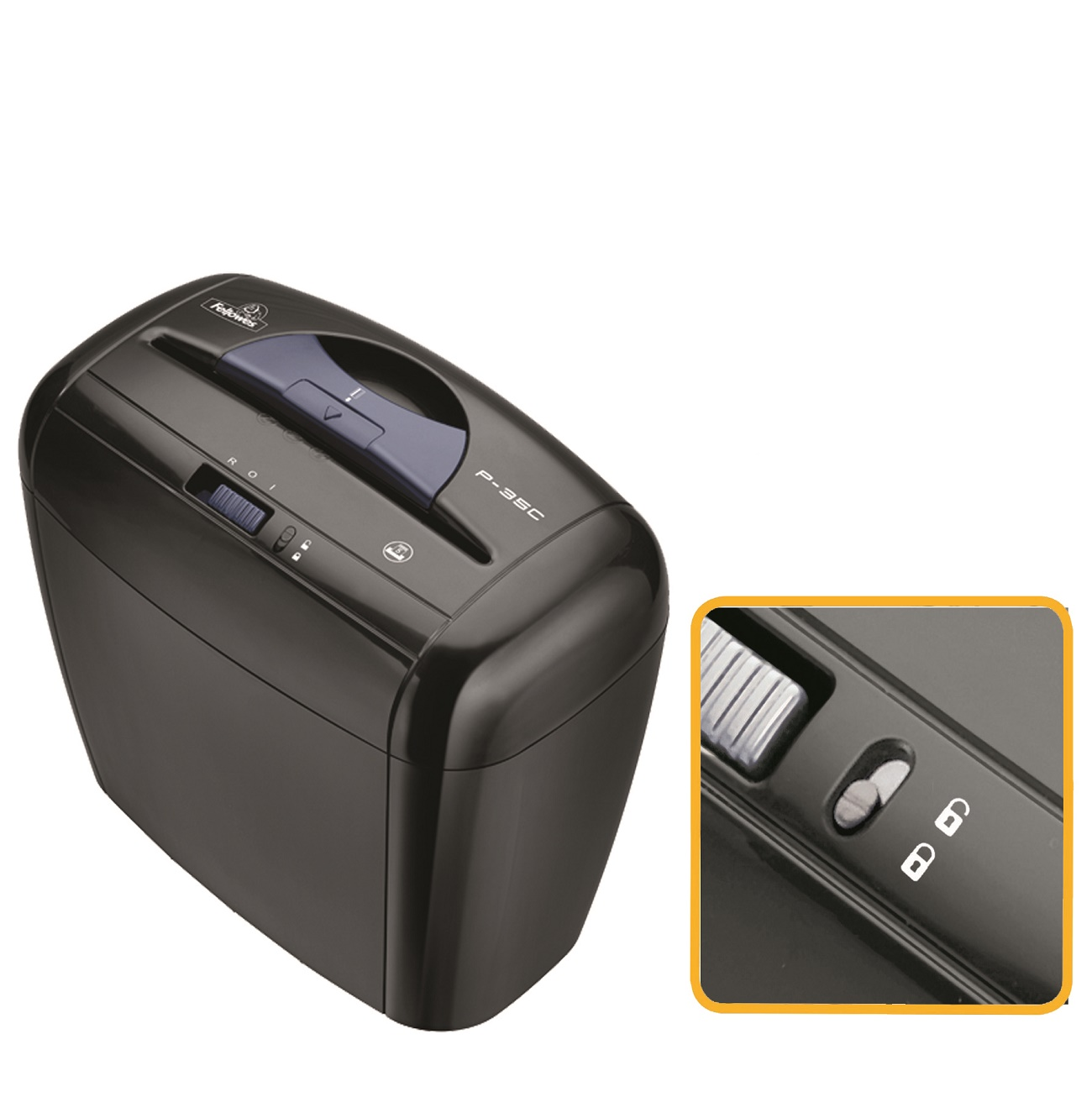Destructora de Papel Fellowes P-35C Negro