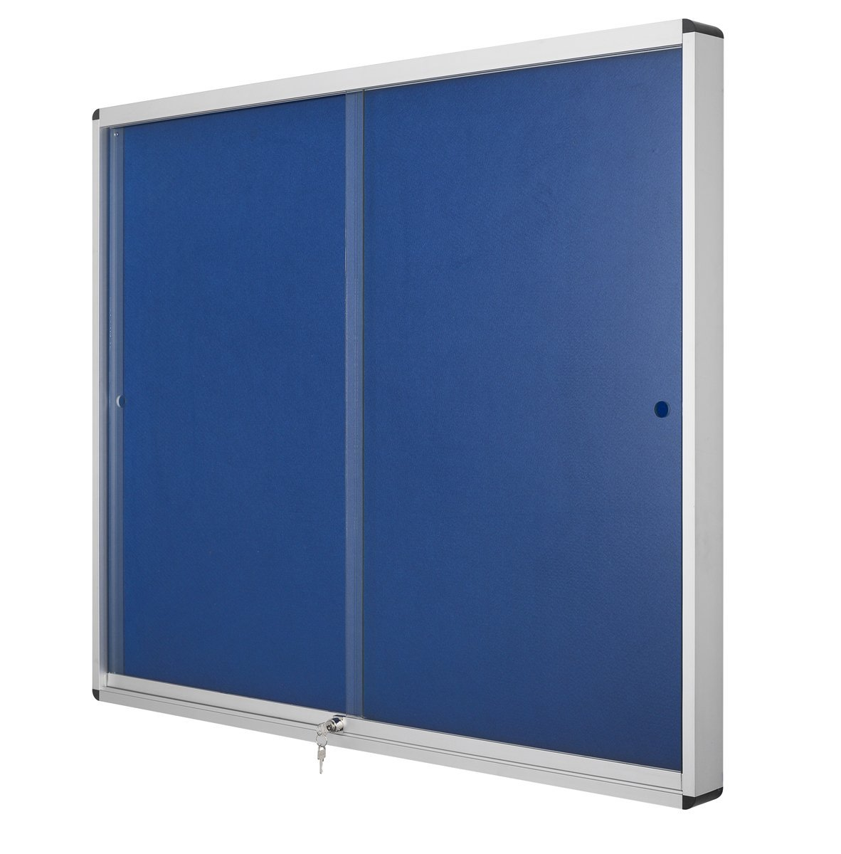 Vitrinas Interior 926x661x55mm Feltro Exhibit Azul