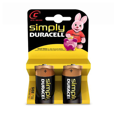 Pilas Duracell Simply C