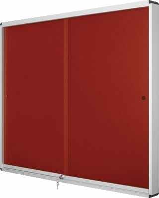 Vitrinas Interior 926x661x55mm Feltro Exhibit Rojo
