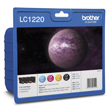 Cartucho de Tinta Brother Pack 4 Cores LC1220VALBP