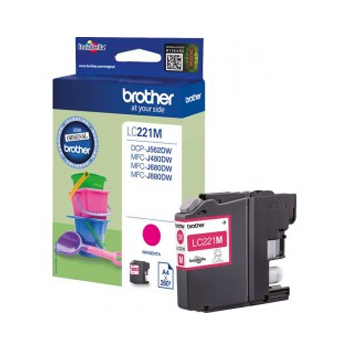 Cartucho de Tinta Brother Magenta LC221M