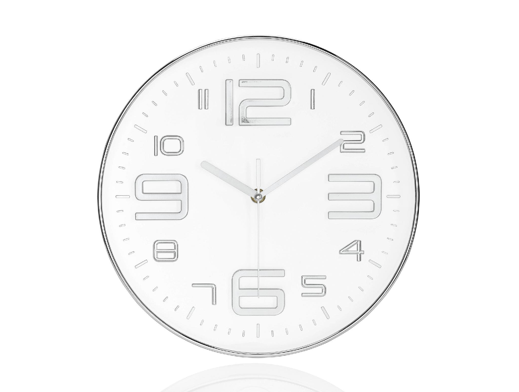 Reloj Pared Metal Cromado | Ricardo & Vaz