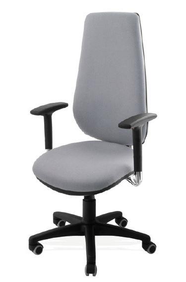 Sillas de oficina con ruedas abc sin apoyabrazos for Sillas de oficina con ruedas
