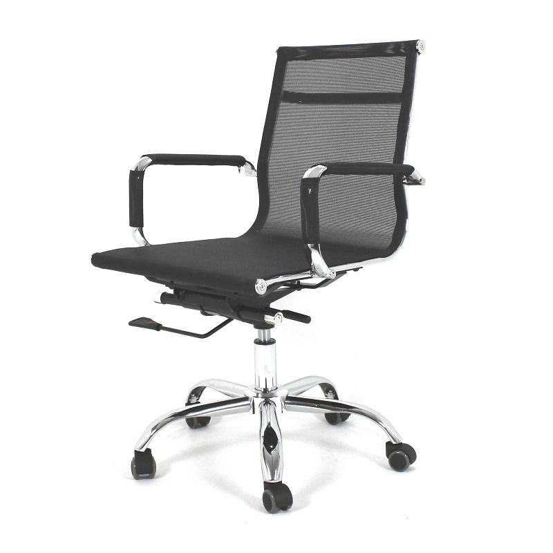 Sillas de oficina c ruedas y apoyabrazos negro pamplona for Ruedas para sillas de oficina